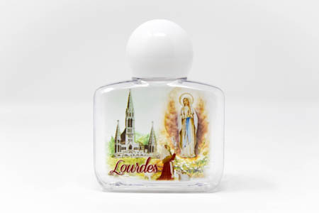 Lourdes Plastic Square Bottle of the Apparition