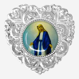 Heart Silver Rosary Box.