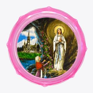 Pink Plastic Rosary Box.