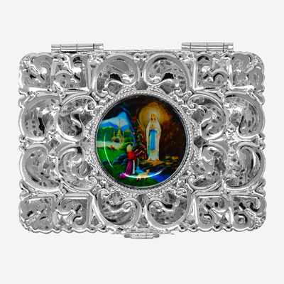 Silver Rosary Box