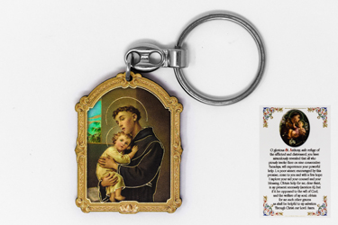 St Anthony Key Ring & Prayer Card.
