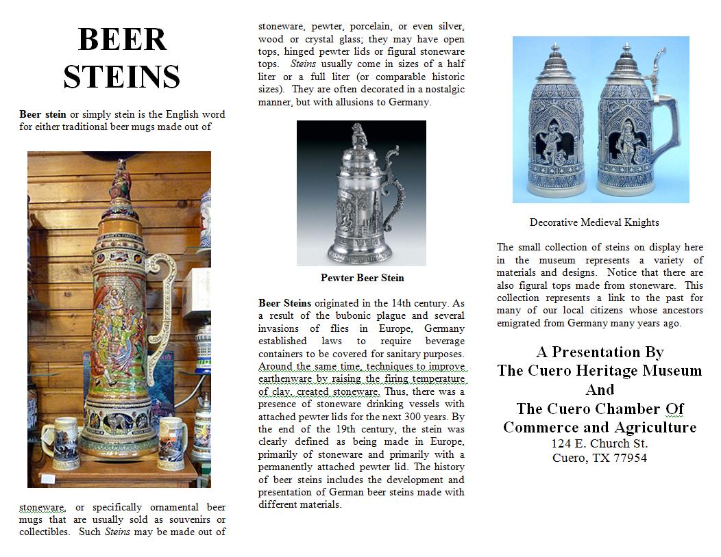 Beer Steins in permanent display exhibits