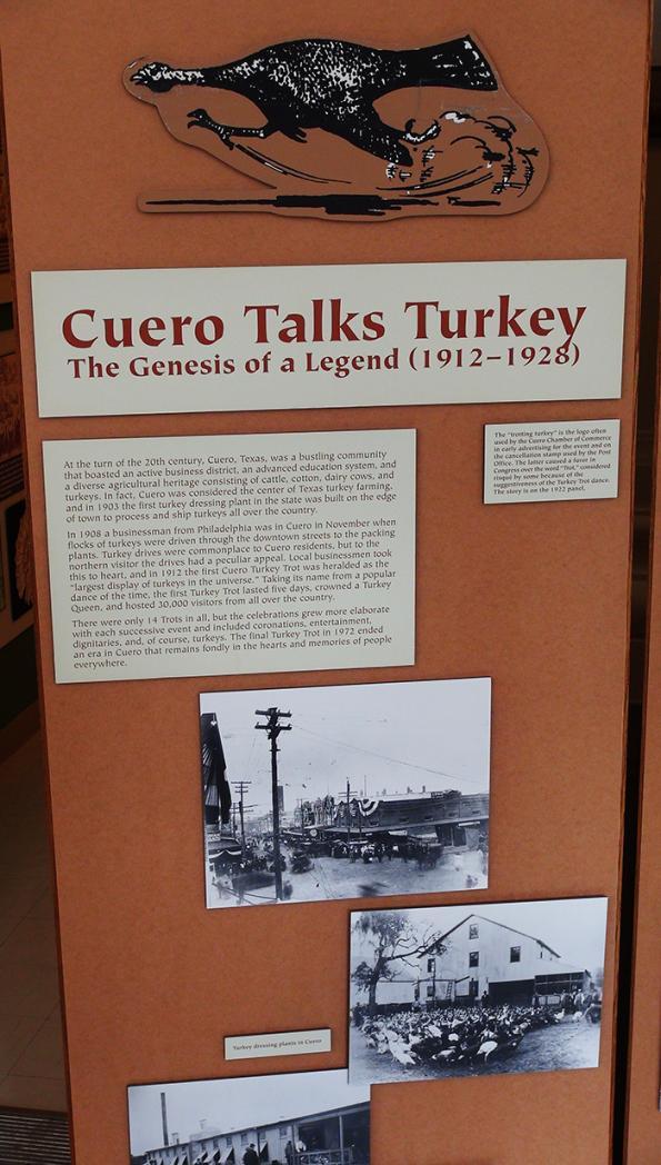cuero talks turkey trot museum exhibit