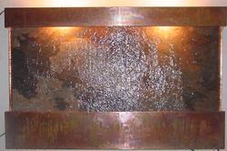Large Slate and Copper Wall Fountain