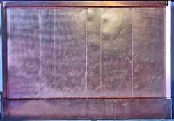 Large 8 foot Copper Panel Wall Fountain