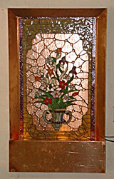 Stain Glass Floor Fountain in Copper