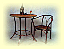 Copper table and Chair for your patio or pool area