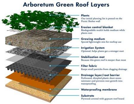 arboretum Green Roof Layers