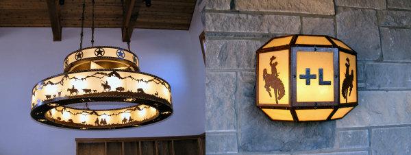 rustic western lighting