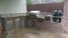 Custom Brick Outdoor Kitchen