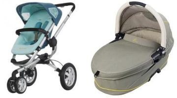 QUINNY BUZZ 3 WHEEL PRAM & BASSINET