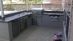 Outdoor Kitchen with Power Burner