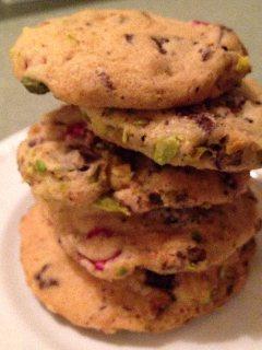 Cherry Pistachio Slice Cookies