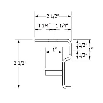 Strip door hardware profile dimensions