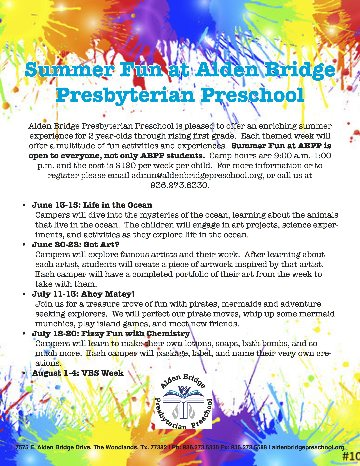 Join us for Summer Fun 2021!