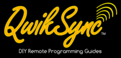 QwikSync Car Remote Programming instructions