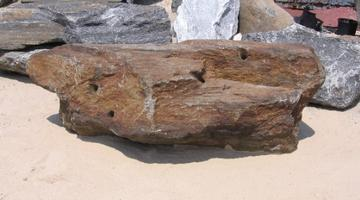 Pool Rock predrilled for water cannons