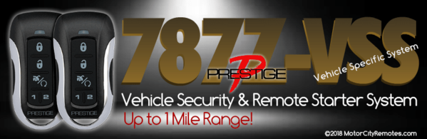 Prestige 787-VSS Vehicle Specific System Remote Starter and Car Alarm Kit