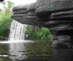 Mountain Forest Ledge Waterfall