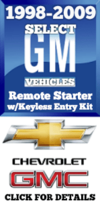 CHEVROLET SILVERADO GMC SIERRA DIY REMOTE STARTER KEYLESS ENTRY KITS