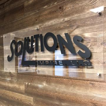 custom acrylic reception sign near syracuse ny