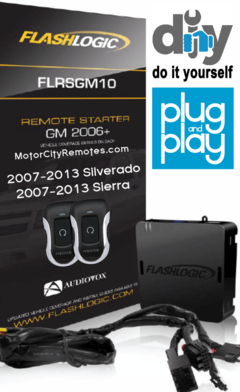 Flashlogic GM10-1BZ Plug&Play Remote Starter Kit