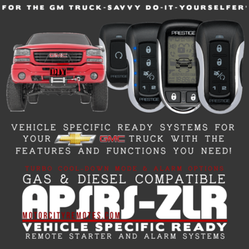 Chevrolet Silverado GMC Sierra Pickups Remote Start and Alarm Systems