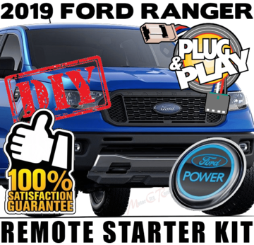 2019 Ford Ranger Push to Start Button Plug Play Remote Starter Kits