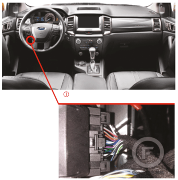 2019 Ford Ranger OBDII Diagnostic Connector Location