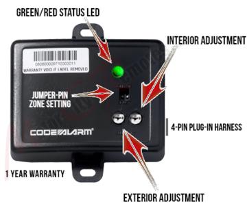 DIY Remote Starters - Dual Zone Microwave Interior Sensor