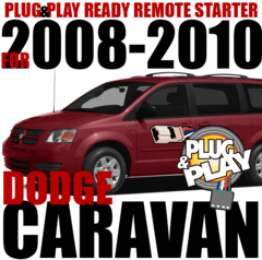 2008-2010 DODGE CARAVAN PLUG N PLAY REMOTE STARTER KIT