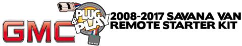 GMC Savana Van Plug Play Remote Starter