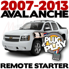2007-2013 Chevrolet Avalanche Plug n Play Remote Starter Kits