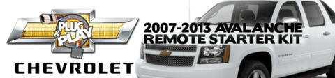 Chevrolet Avalanche Plug Play Remote Starter