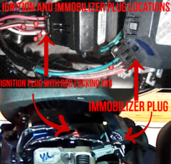 Chevy Silverado Ignition and Immobilizer Plugs Location