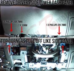 Silverado Drivers Side Dash Lower Panel Removal