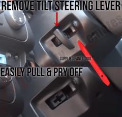 Silverado Tilt Steering Lever Removal