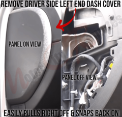 Chevrolet Silverado Drivers Side Left End Dash Panel Removal