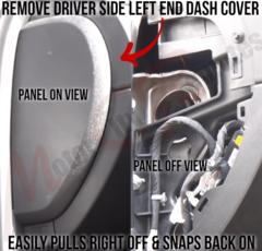 Chevrolet Silverado Drivers Side Left End Dash Panel Removal