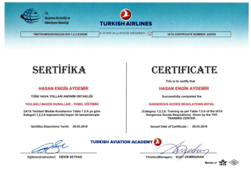 Dangerous Goods Regulations Certificate -2