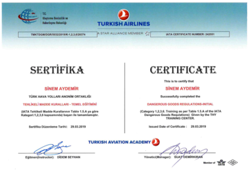 Dangerous Goods Regulations Certificate -3