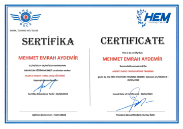 Cargo Sales Certificate