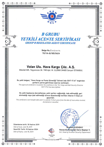 Civil Aviation Certificate