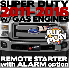 Ford Super Duty Gas Engine Remote Starters