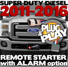 Ford Super Duty Diesel Plug Play Remote Starters