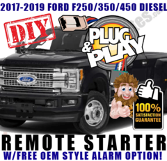 2017 2018 2019 FORD F250 F350 F450 F550 PLUG AND PLAY REMOTE STARTERS