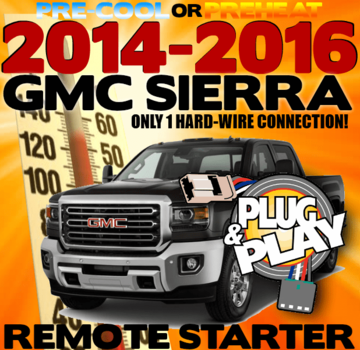 GMC SIERRA Plug n Play Remote Starter Kits
