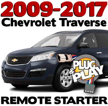 2009, 2010, 2011, 2012, 2013, 2014, 2015, 2016, 2017 Chevrolet Traverse Remote Starter