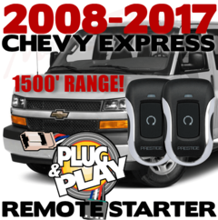 2008-2017 CHEVY EXPRESS VAN REMOTE STARTER