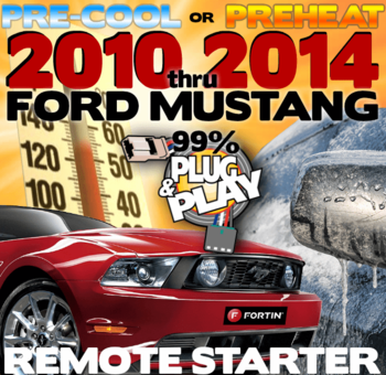 2010, 2011, 2012, 2013, 2014 FORD MUSTANG PLUG AND PLAY REMOTE STARTER KITS